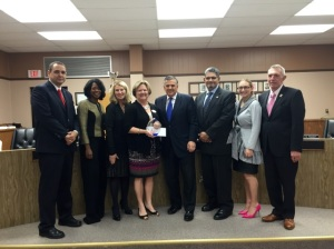 Commissioner Stewart and Florida's State Board of Education presented Citrus County Superintendent Sandra Himmel with the 2014 Lavan Dukes District Data Leader of the Year award.